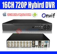 16ch Full AHDML 720P (960H) Full D1 CCTV DVR Recorder Supports AHD 720P Real-time Recording HDMI VGA PC&Mobile Phone view Onvif