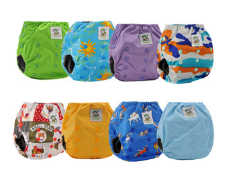 NEW PRINTS! Free shippng! 16 Coolababy  Bamboo Charcoal Waterproof  Washable Tranning pants  with inner gussets +  16  inserts