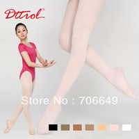 Free shipping 12 pairs per dozen Dttrol Footed dance ballet tights with waist band and gusset (D004819)