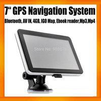Free Shipping 7Inch MTK GPS Navigator+car dashboard+Bluetooth,+AV IN +4GB+Free Map Ebook Reader WIN CE 6.0 FMT MP3 MP4