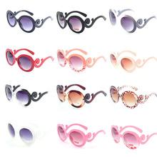 neuen 2014 heißer verkauf designer inspiriert runde mode sonnenbrillen frauen barock Wirbel Arme brille frauen Jahrgang Schattierungen mode