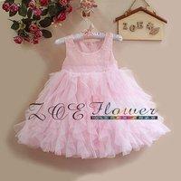 Little Girl Elegant Party Dress vestidos de menina casamento girls communion dresses pink 2014 first communion dresses for girls