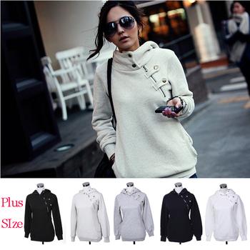 Plus Size New 2014 Autumn Hoodies Women Sport Suit Pullovers Hoody Swearshirt Fleece Warm Moleton Feminino Winter Coat Camisolas