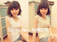 TT-004 FREE SHIPPING Women's  fashion sexy cotton elastic rib crochet tank tops, popular vest , basic singlet