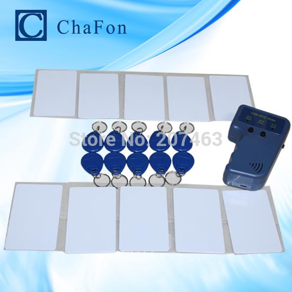 Handheld 125Khz EM4100 RFID copier / writer / duplicator(T5557/T5577/EM4305) free 10pcs writable keychains and 10pcs cards(China (Mainland))