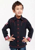 Freeshipping Spring Autumn white black children Boy Kids bbay long sleeve handsome Tshirt shirt clothing cloth top PECS03P31