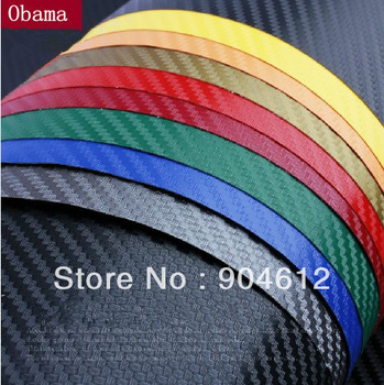 "1.27X0.3Meter 3D car film carbon fiber vinyl carbon fibre car sticker (50X11.8""/127X30cm) glue sticker--13 color option"