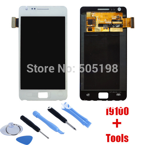 LCD Screen Digitizer Touch Screen assembly For Samsung Galaxy S2 i9100 White Black Color Free Shipping