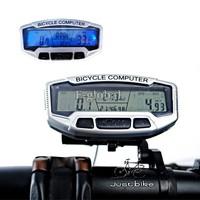 Cheap 2Pcs/Lot 28 Functions Waterproof Backlight LCD Bike Bicycle Computer Odometer Speedometer Velometer B16 2659