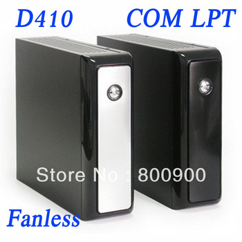 Atom D410 1.66Ghz, 1G RAM, 8G SSD, fanless mini pc with COM LPT PXE RPL IN-D410C