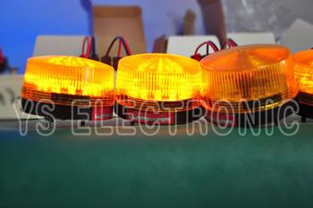 [YS]Free shipping led amber warning light LTE5060 led traffic signal DC12V strobe warning lights flash alarm police light