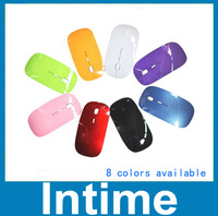 Hot selling  8 colors available mouse super slim microsoft 2.4G USB receiver computer mouse and mice free shipping