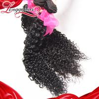 3 Pcs Lot Mixed Length 8-26 Inches Deep Curly Brazilian Virgin Hair Weft 100% Beauty Human Hair Extension Free Shipping LQBJC002