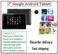 Cheapest 7 inch Q88 dual Camera  tablet pc android 4.0 Capacitive Screen 512M 4GB WIFI allwinner a13+touch pen