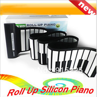 USB Electronic Music Silicon Roll Up Standard Piano 88 Keys Soft Keyboard Organ Midi Out 128 toys With PC Free drop shipping