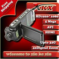 Hot Selling Novatek full HD 1920*1080 4x Digital Zoom 5mega 1080p Car DVR Camera video recorder cam black box F900l Freeshipping