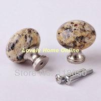 Best Choice for Kitchen Furniture,Unique Santa Cecilia Granite Brass Cabinet Hardware,32mm Small Drawer Knob Gold Cupboard Knobs