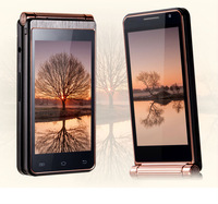"2014 new flip phone original Phone W2013 3.7 "" Dual Screen Smartphone android 4.2 MTK 6572 Dual core GPS wifi Russian W999 Menu"