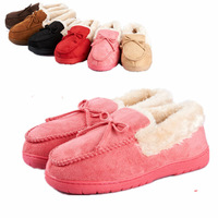 Hot sale! NEW 2014 plush lovers cotton-padded slippers winter for women and men at home warm shoes fashion plus size 35-44