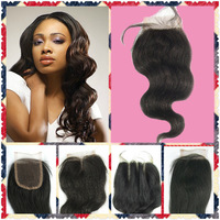 Brazilian Middle Part Virgin Hair Closure Natural Wave Top Lace Closure 4x4 Closure Virgin Brazilian Unprocessed Hair Products