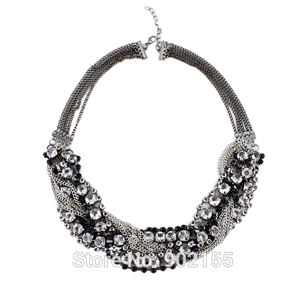 New Top Selling Fashion Design Jewelry High Quality Full Rhinestone Choker Circle Necklace For Women(China (Mainland))