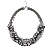 New Top Selling Fashion Design Jewelry  High Quality Full Rhinestone Choker Circle Necklace For Women