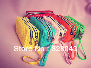 2014 Women's Handbags Fashion Special Offer 100% LEATHER Clutch Bag Coin Purse Evening Bags Cell Phone Key Bag Wholesale