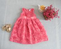free shipping wholesale summer baby dress flower dress lining cotton kids dress children clothing