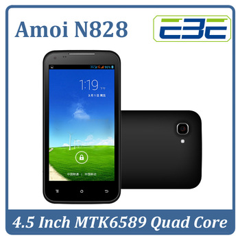 Original AMOI N828 4.5 inch QHD IPS MTK6589 Quad Core Mobile Phone 1GB 4GB Dual Cam Android 4.2 GPS BT Free shipping SG Post
