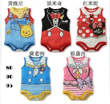 Free shipping! 2014 summer cute children's clothing boy baby  newborn bodysuit kids clothes Retail 107