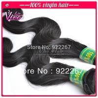 "Mixed lengths 3pcs lot brazilian virgin human hair extensions, unprocessed body wave 12""-28"" natural color UPS/DHL shipping"