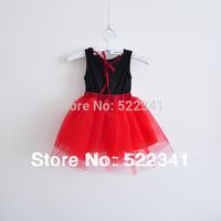 The girls lovely Female child tank dress dance 2014 summer tulle dress spaghetti strap princess Baby Dress Children's Dresses