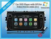 Black/Siliver Two Din 7 Inch Car DVD Player For FORD/Mondeo/S-MAX/Connect/FOCUS 2 2008-2011 With 3G GPS BT IPOD TV FM Free Map