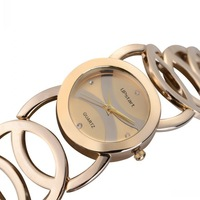 JW089 New Arrival 3 Colors High Quality Shinning Upstart Steel Women Ladies Wrist Watch Dress Watch