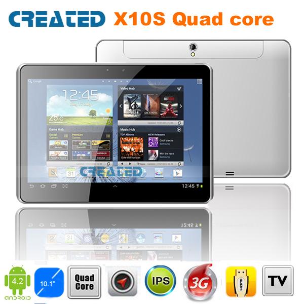 CREATED X10S 10inch phone call tablet pc Free shipping HDMI IPS screen 3G WCDMA/GPS/Bluetoth/ATV/FM/dual camera/dual sim (X10S)(China (Mainland))
