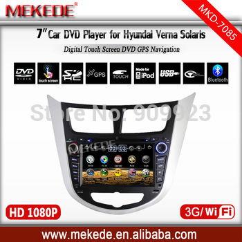 Free shipping+Special CAR DVD for Hyundai Verna/ Solaris /accent with CAR Radio  DVD,IPOD,GPS,ATV,BT,RDS  all+4G MAP gift