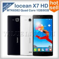 Original Iocean X7 HD mtk6582 quad core cell phones android 4.2 5.0inch IPS HD Screen 1GB RAM 4GB ROM 8MP Camera dual sim 3G/GPS