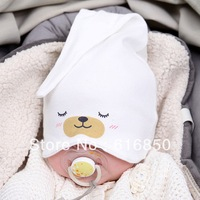 New! Infant Sleeping Hat Baby Cotton Hat Lovely Printed Sofe Cotton Baby Cap  Beanies Skullies Free Shipping 3380