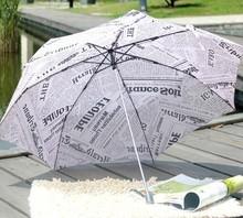 The Sun Rain Parasols Umbrella Novelty Items Pencil White Pink Newspaper Umbrellas For Women Men Free Shipping(China (Mainland))