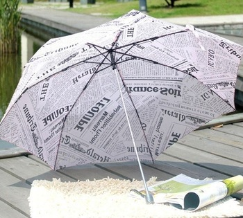 The Sun Rain Parasols Umbrella Novelty Items Pencil White Pink Newspaper Umbrellas For Women Men Free Shipping