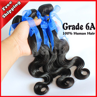 Wholesales Virgin Brazilian Hair Body Wave 4Pcs/Lot 1B Natural Color 100g Free Shipping Mix Size 12-30inch