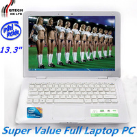 13.3 inches blade ultrabook Intel CPU Dual Core D2500, support Windows7, WIFI Russian Arabic Spanish