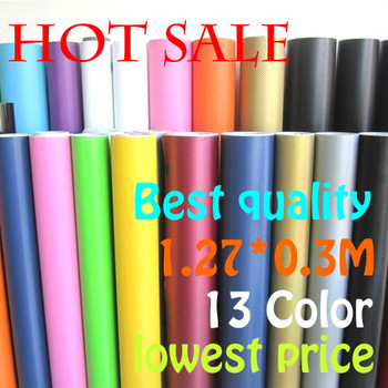 "1.27X0.3Meter 3D carbon fiber vinyl film/ carbon fibre sticker (50X11.8""/127X30cm)--13 color option FREESHIPPING car sticker"