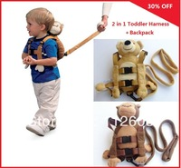 Free Shipping Last Stock Toddler Safety Harness 2in1+ Bear Backpack,Goldbug harness buddy