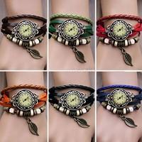 10PCS/LOT Wholesale 5Colors New Arrival Women Dress Bracelet Watch Vintage Wrist Watch Girls Cute Butterfly Watches 18184