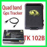Quad band Spy Vehicle Realtime GPS/GSM/GPRS Car Vehicle Tracker TK102B gps tracker tk102 - original retail box