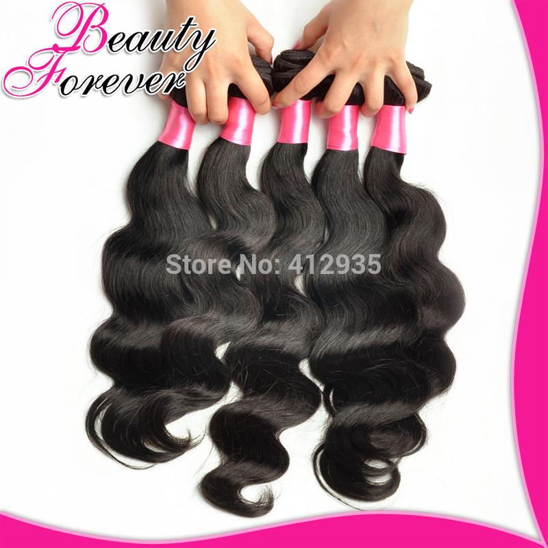 Beauty Forever 6A Brazilian Virgin Hair Weaves 4Pcs/Lot Bundles Unprocessed Virgin Brazilian Body Wave Wavy Brazilian Human Hair(China (Mainland))