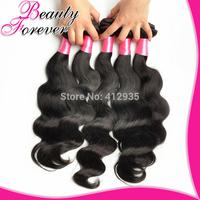 Beauty Forever 6A Brazilian Virgin Hair Weaves 4Pcs/Lot Bundles Unprocessed Virgin Brazilian Body Wave Wavy Brazilian Human Hair