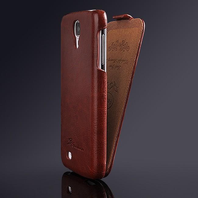 Новый делюкс crazy-лошадь PU кожа флип чехол для Samsung Galaxy S4 i9500 крышка мода логотип ретро серии старинные роскошные YXF0055