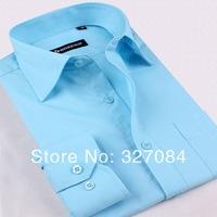 [TR14] Free shipping 2013 new men's shirts men's long-sleeve fashion slim shirt xxxxl good quality 100% Guarantee